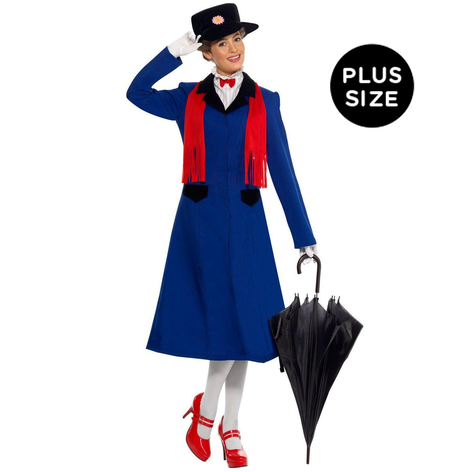 Mary poppins plus adult costume mary poppins disney for Storybook nanny