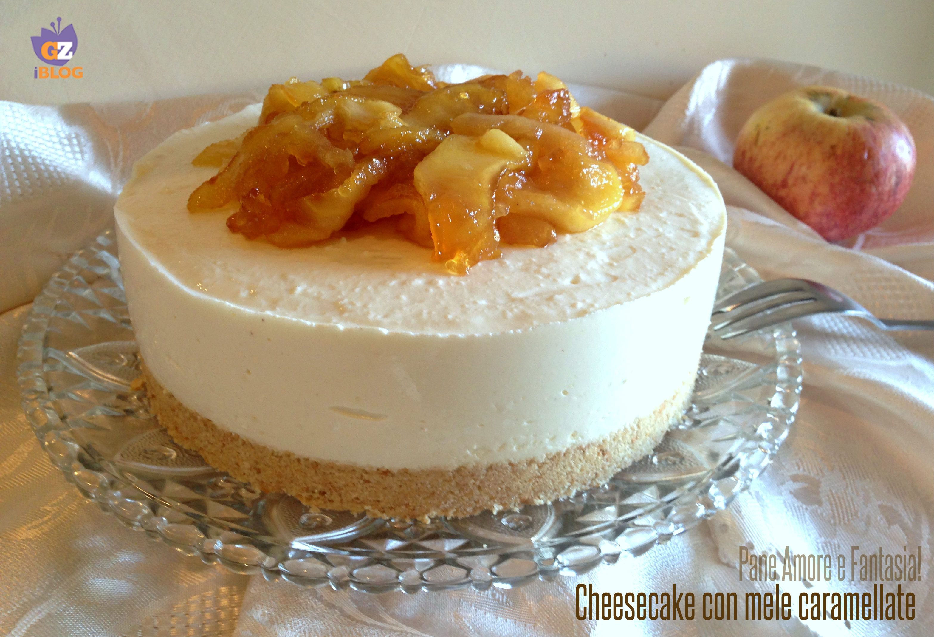 Cheesecake con mele caramellate - senza cottura