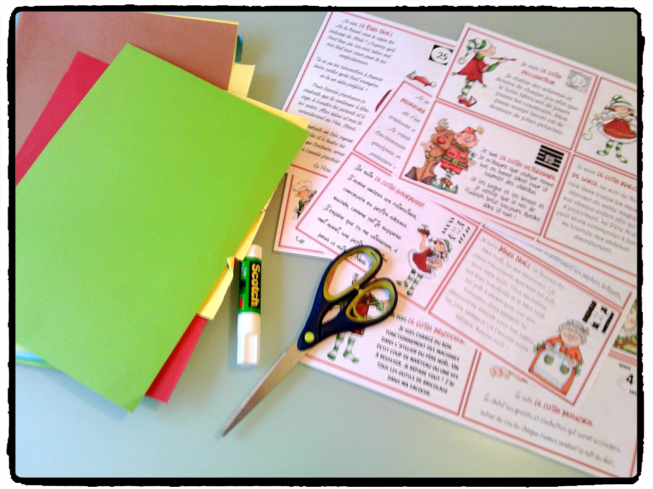 La boîte aux lettres de l'Avent : les lutins du Père Noël (calendrier de l'Avent) - (avec images ...