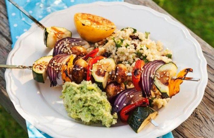 vegetariska grillspett recept