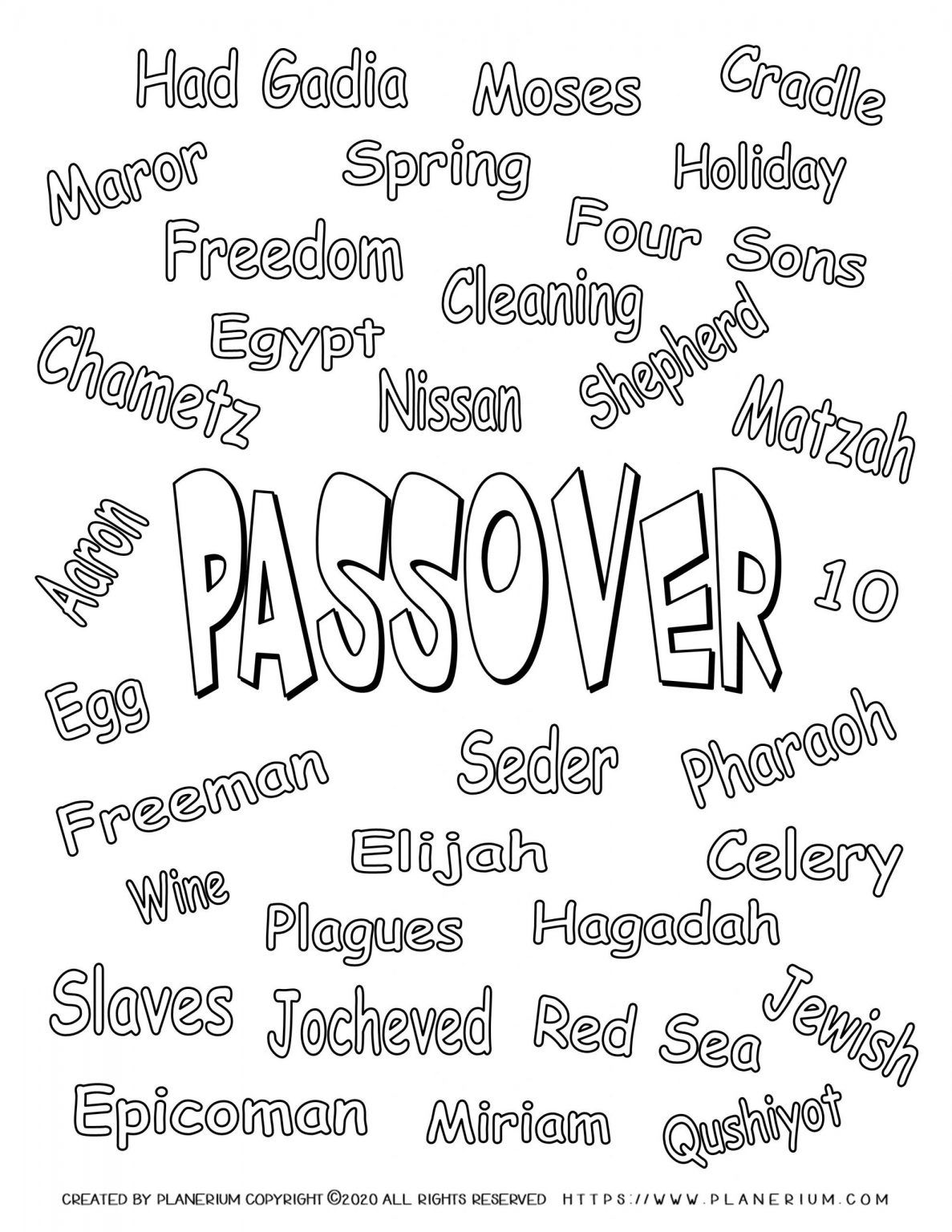 Best Printables For Passover 2021 Planerium In 2021 Passover Worksheets Passover Words [ 1536 x 1187 Pixel ]