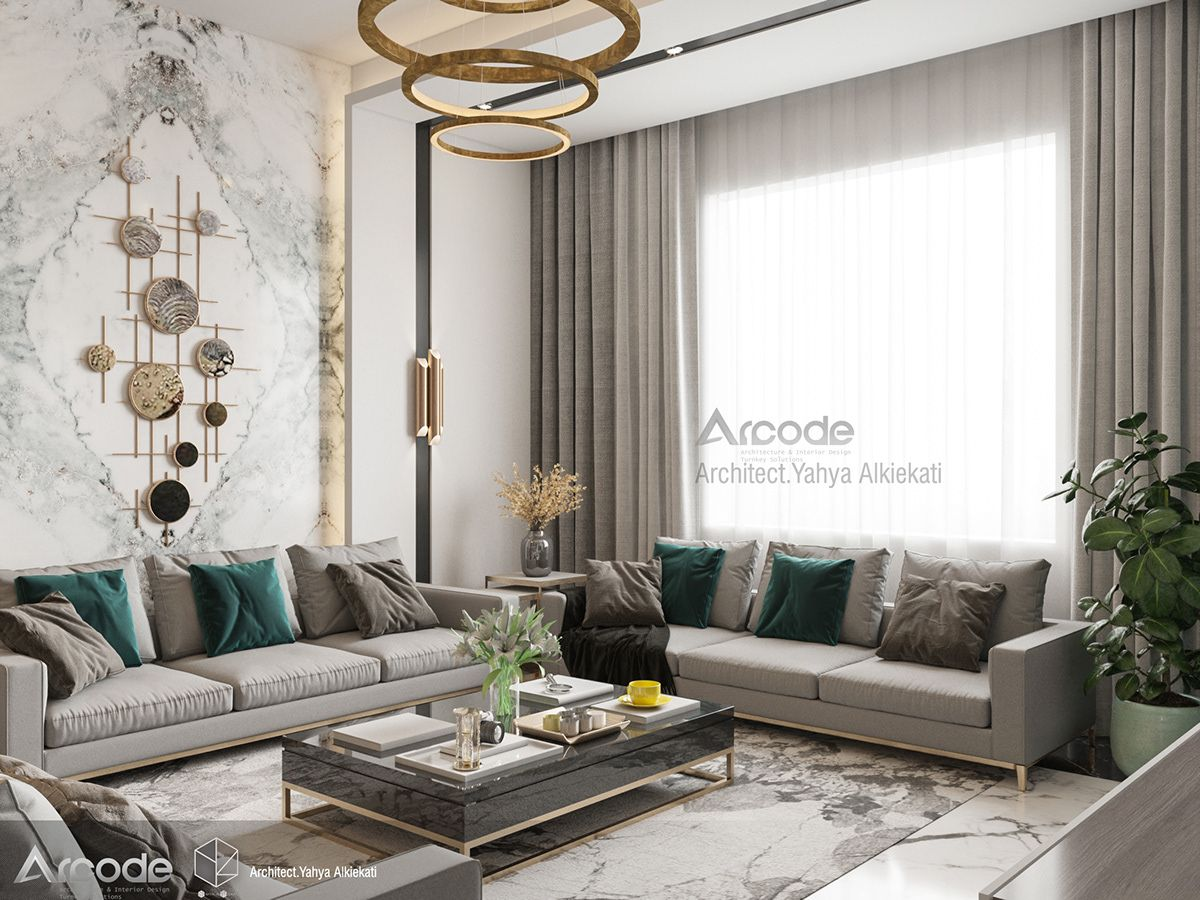 Living Area On Behance Interior Design Luxury Living Room Living Room Designs
