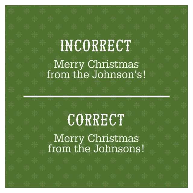 Card Making Name Ideas Part - 27: 5 Common Christmas Card Grammar Mistakes You Might Be Making