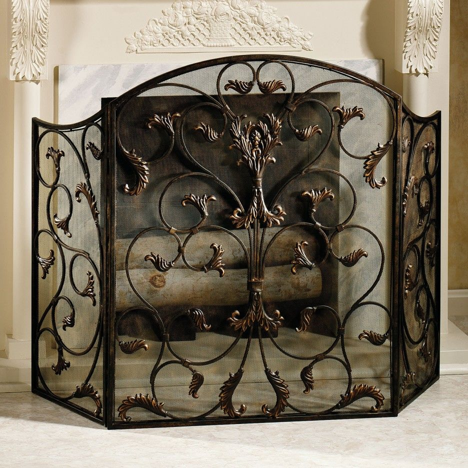 Ideas decorative yet protective wrought iron fireplace screen decorative yet protective wrought iron fireplace screen design beautiful wrought iron fireplace screen teraionfo