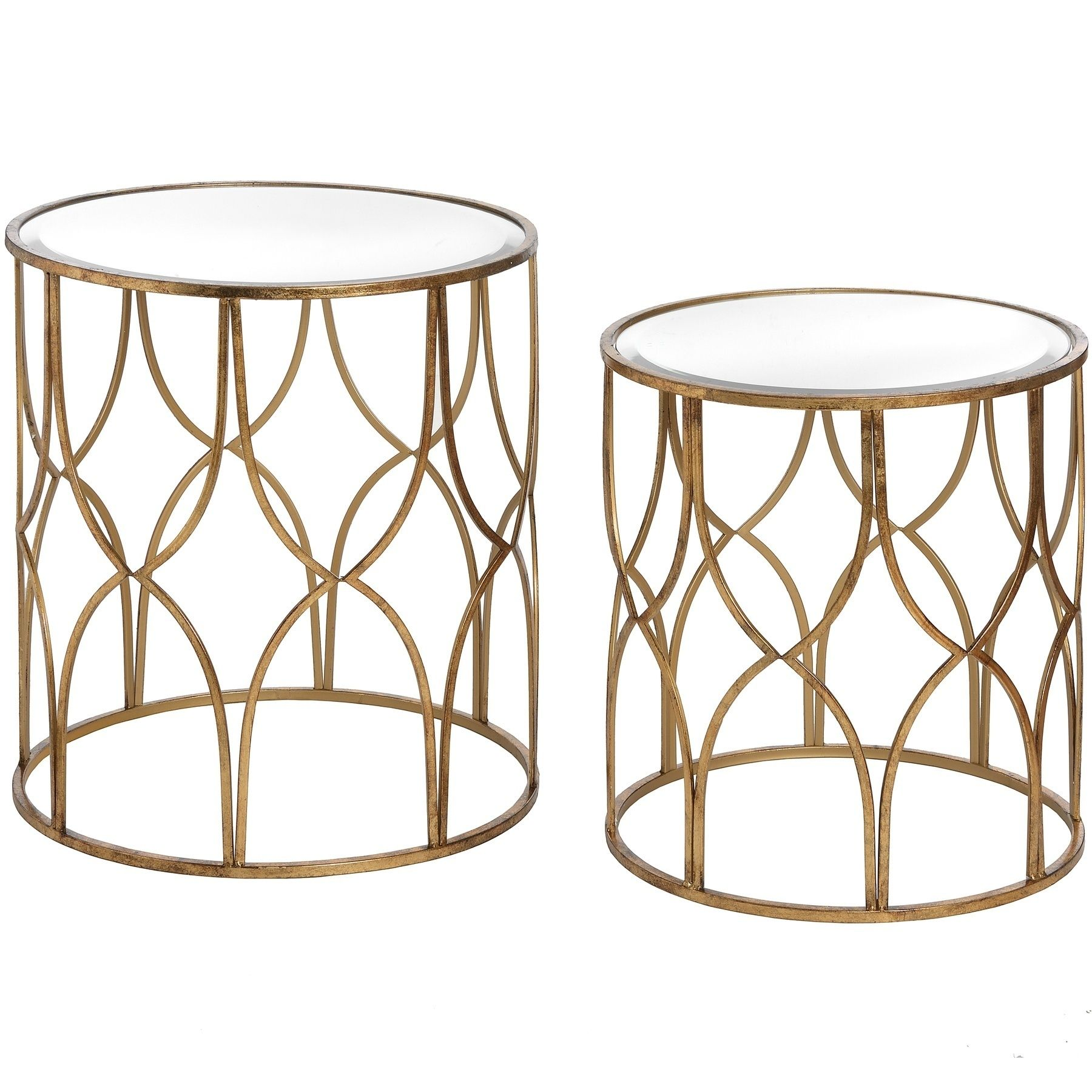 Vintage Styled Gold Lattice Round Set