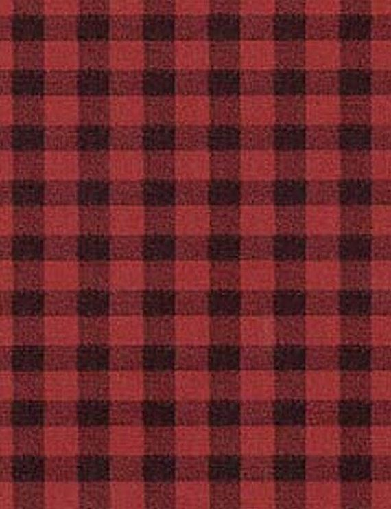 Red Black Faux Flannel Fabric Gingham Check By Wallpaperyourworld