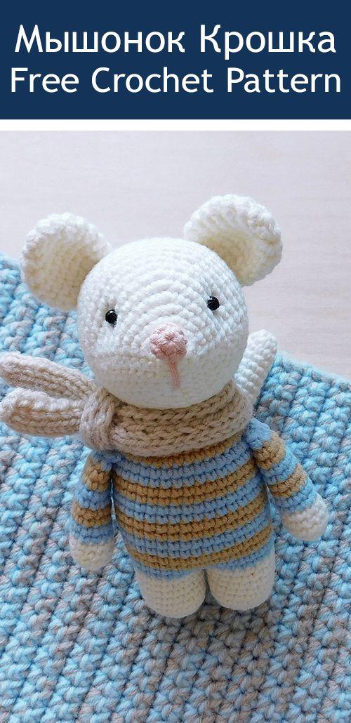 PDF Мышонок крючком. FREE crochet pattern mouse; Аmigurumi doll patterns. Амигуруми схемы на русском #freeamigurumipatterns