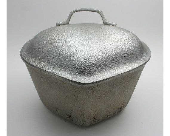 Vintage 1930s Silver Seal Cast Aluminum Heart Shaped Pot Century Metalcraft Corp 2 Quart 10 Cup Pan Kitchen Coo How To Clean Aluminum Vintage Vintage 1930s
