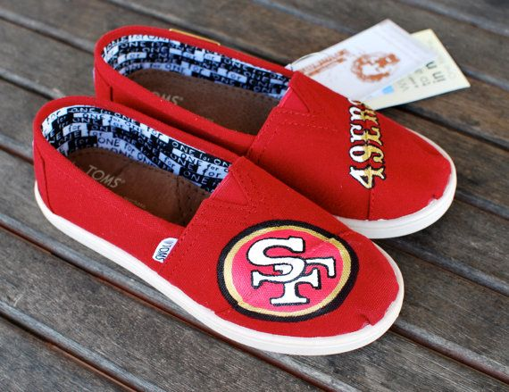 f71db06a Youth San Francisco 49ers TOMS shoes by BStreetShoes on Etsy ...
