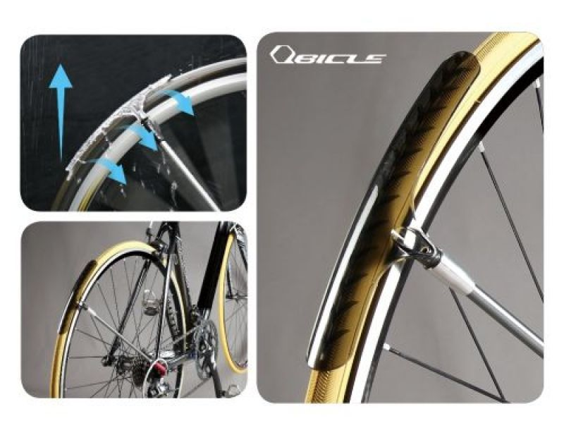 Esta pequeña salpicadera aerodinámica de QBicle protegerá a tu espalda de salpicaduras de agua [video] - Bike T3CH