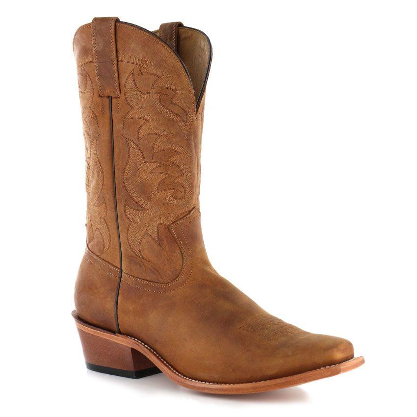 Men's Cowboy Boot Medium Toe Amber BRN 8.5 EE US