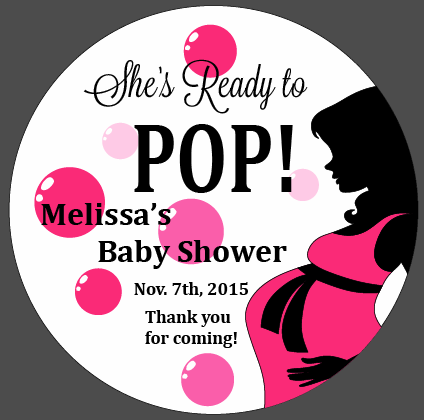 Custom Sheu0027s Ready To POP   Baby Shower Decals