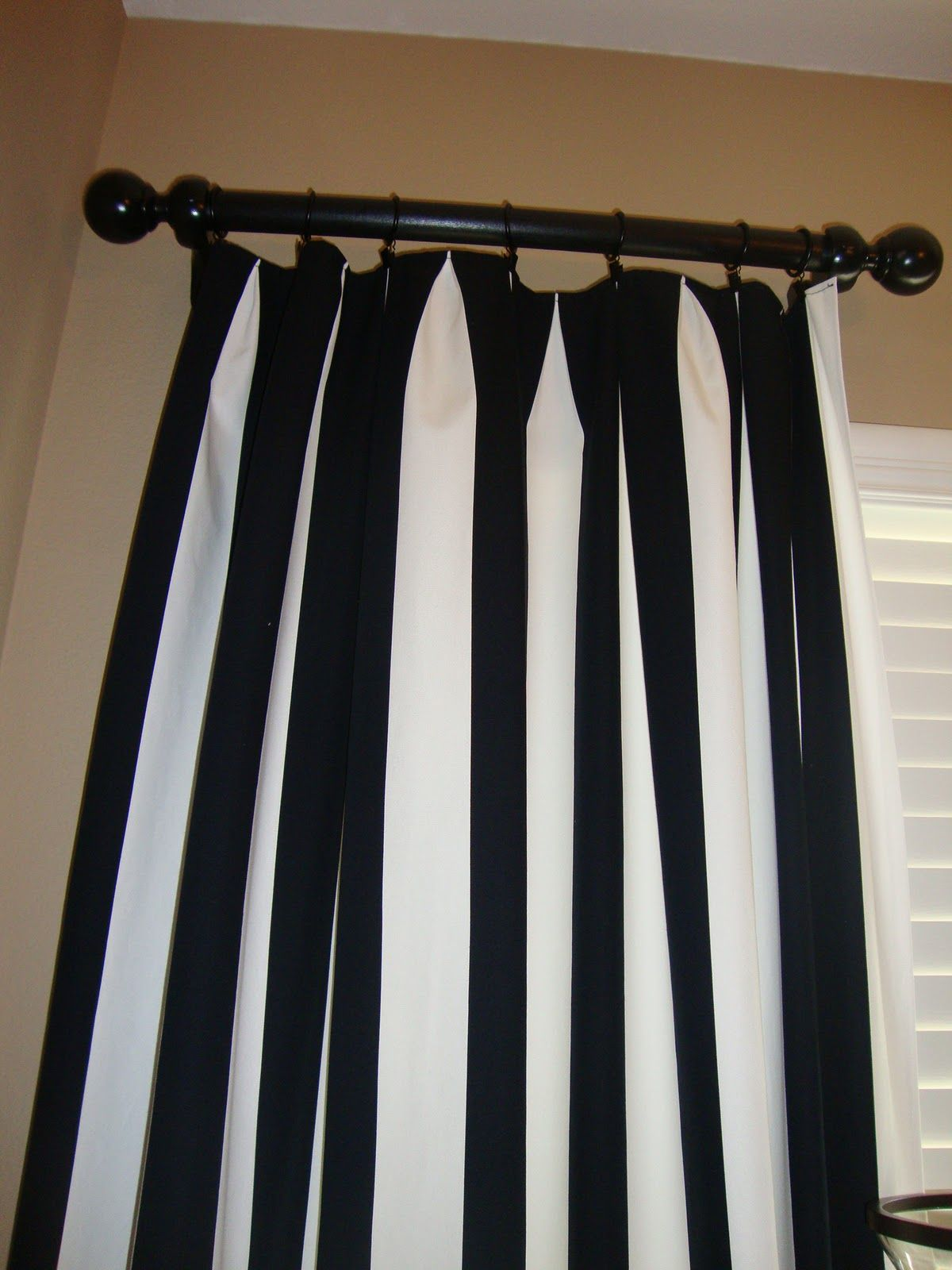 DIY Striped Ikea Fabric made curtains