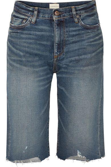Gannett Frayed Denim Shorts - Mid denim Simon Miller 78VQNZ