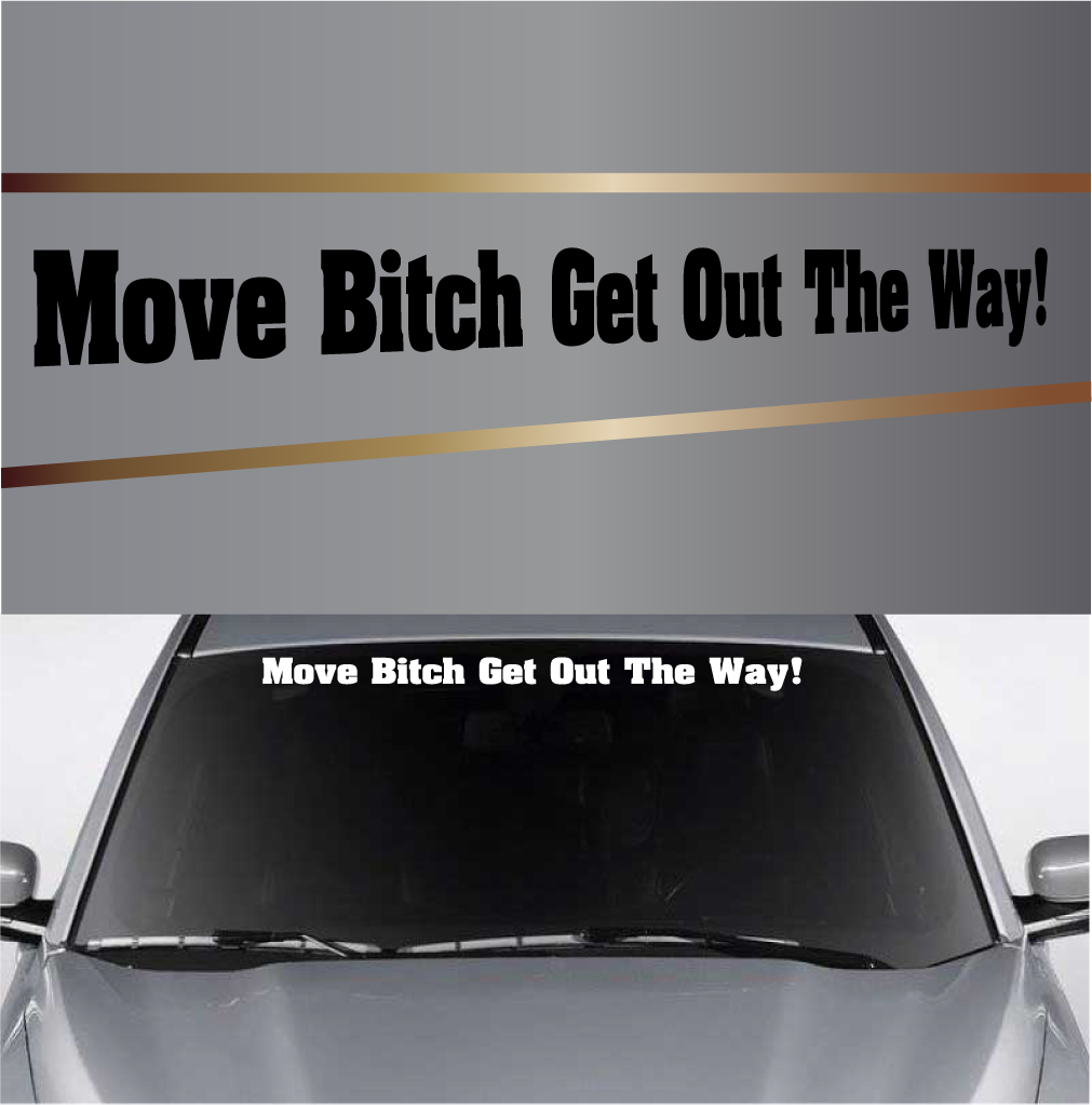Windshield vinyl decal banner