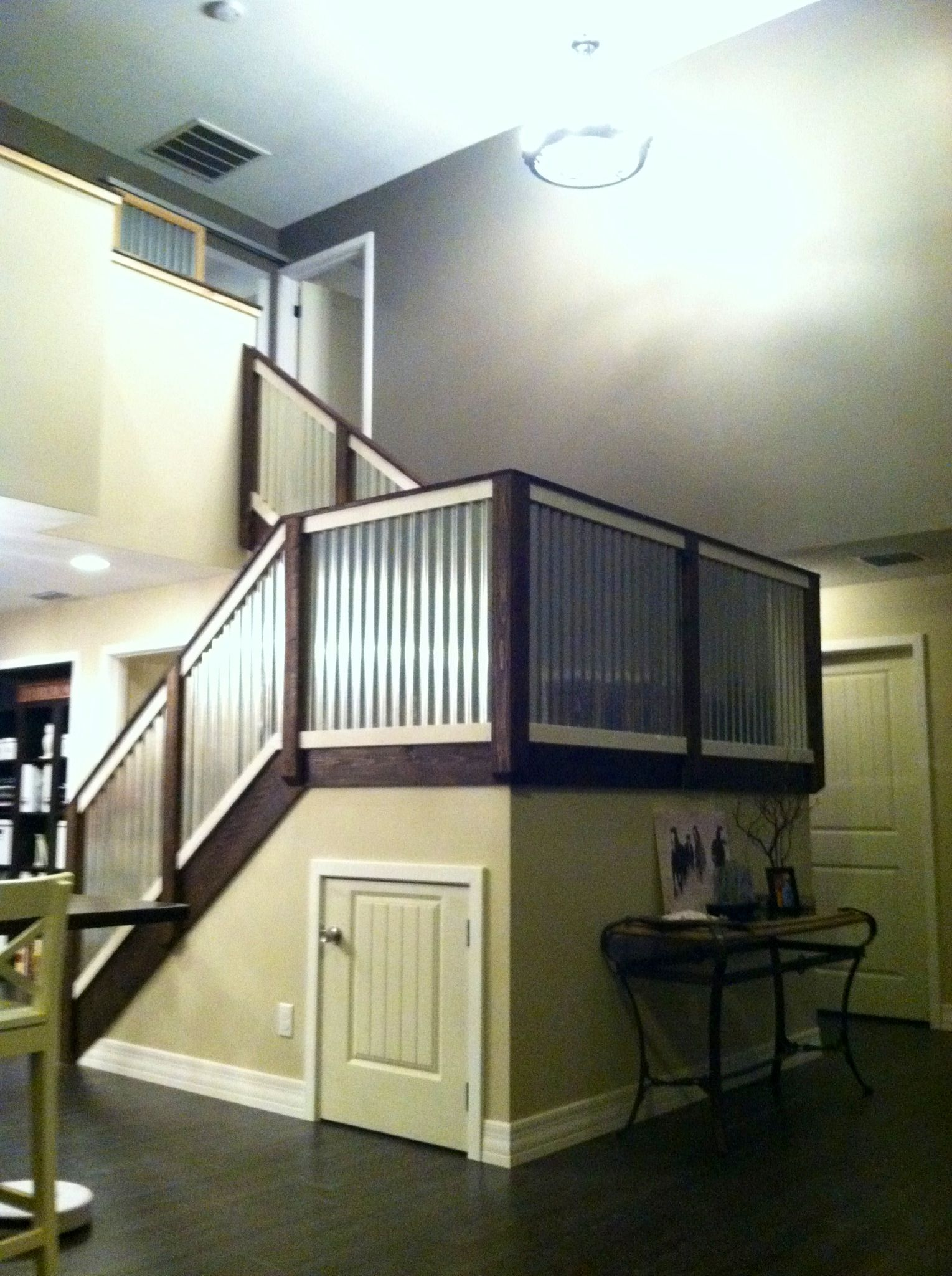 Our Corrugated Metal Stair Railing Metal Stair Railing Metal Stairs Loft Railing