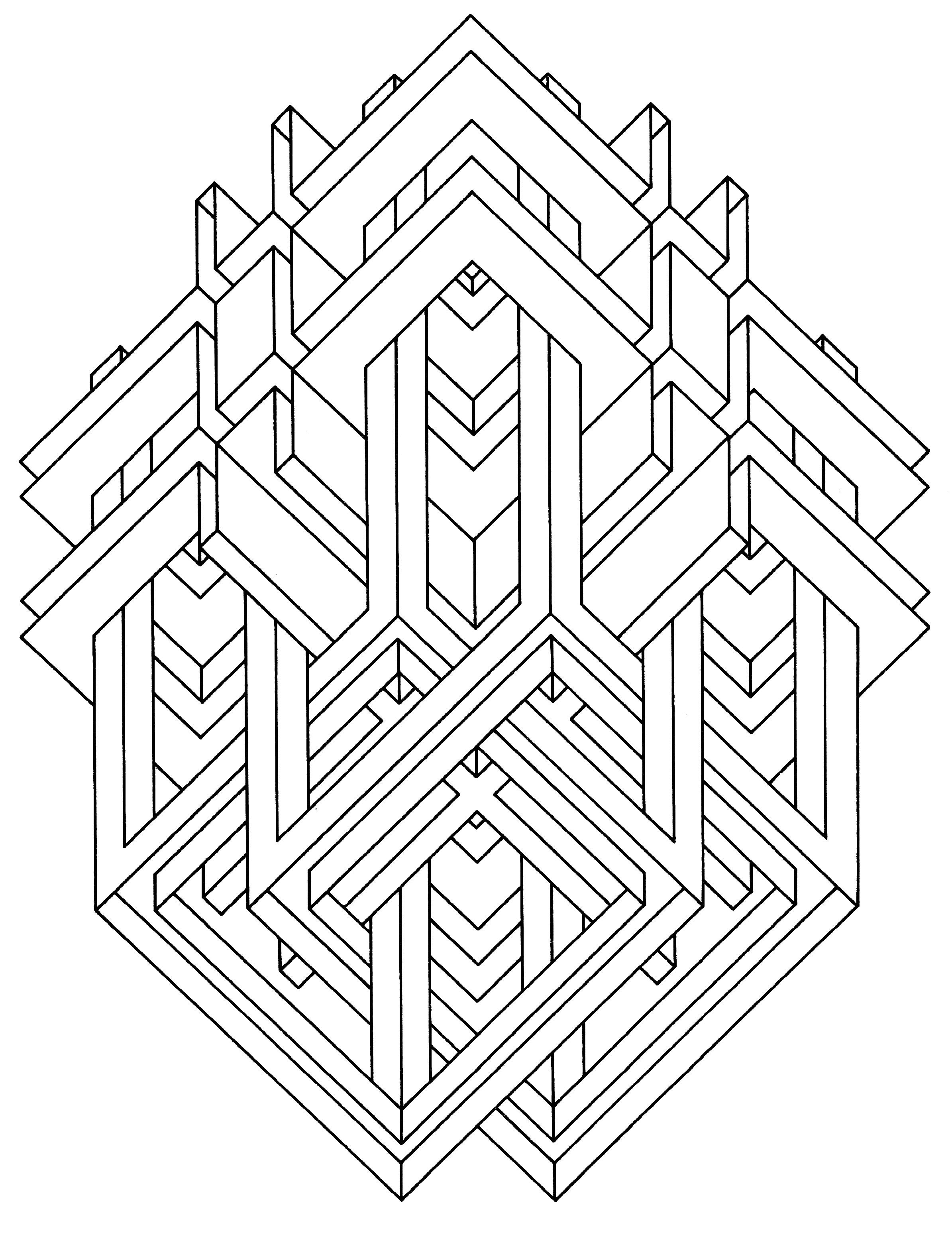 victor vasarely coloring pages | To print this free coloring page «coloring-op-art-jean ...