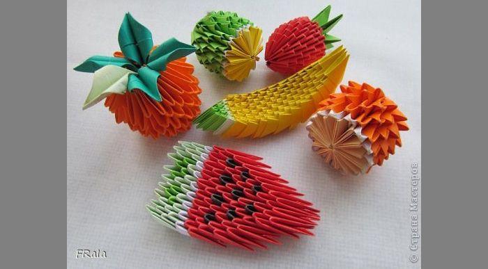 Как сделать овощи и фрукты из бумаги | Модульное оригами ...