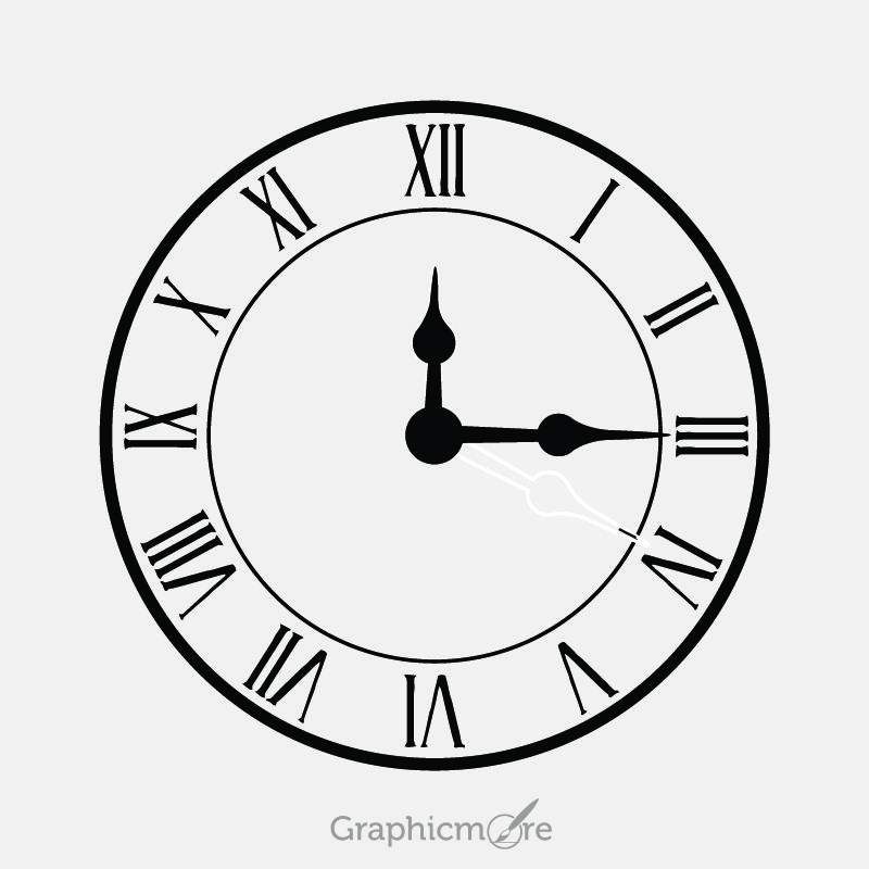 Vintage Clock Design Free Vector File Download By Graphicmore
