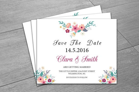 Wedding Save The Date Template Printable Save The Date