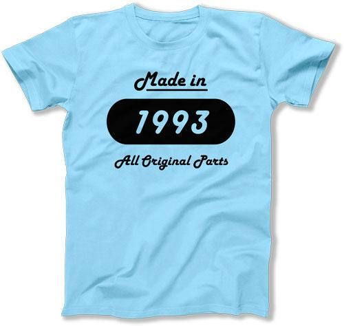 25th Birthday T Shirt Gift Ideas For Men Present Her Custom Year Made In