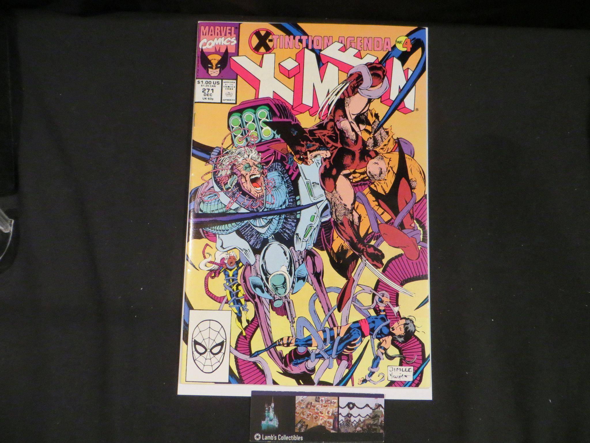 X-men #271 Vol 1 Dec 1990 comic book Jim Lee