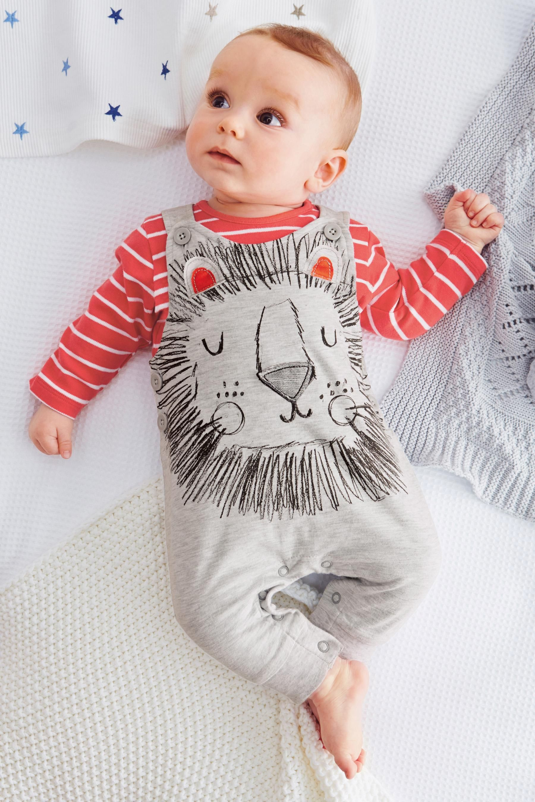 Lion Face Dungarees L I T T L E New Baby Products