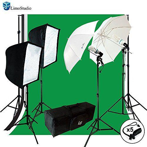LimoStudio Photo Video Photography Studio Chromakey Green Black White Screen 3 Muslin backdrops Lighting Kit with  sc 1 st  Pinterest & LimoStudio Photo Video Photography Studio Chromakey Green Black ...