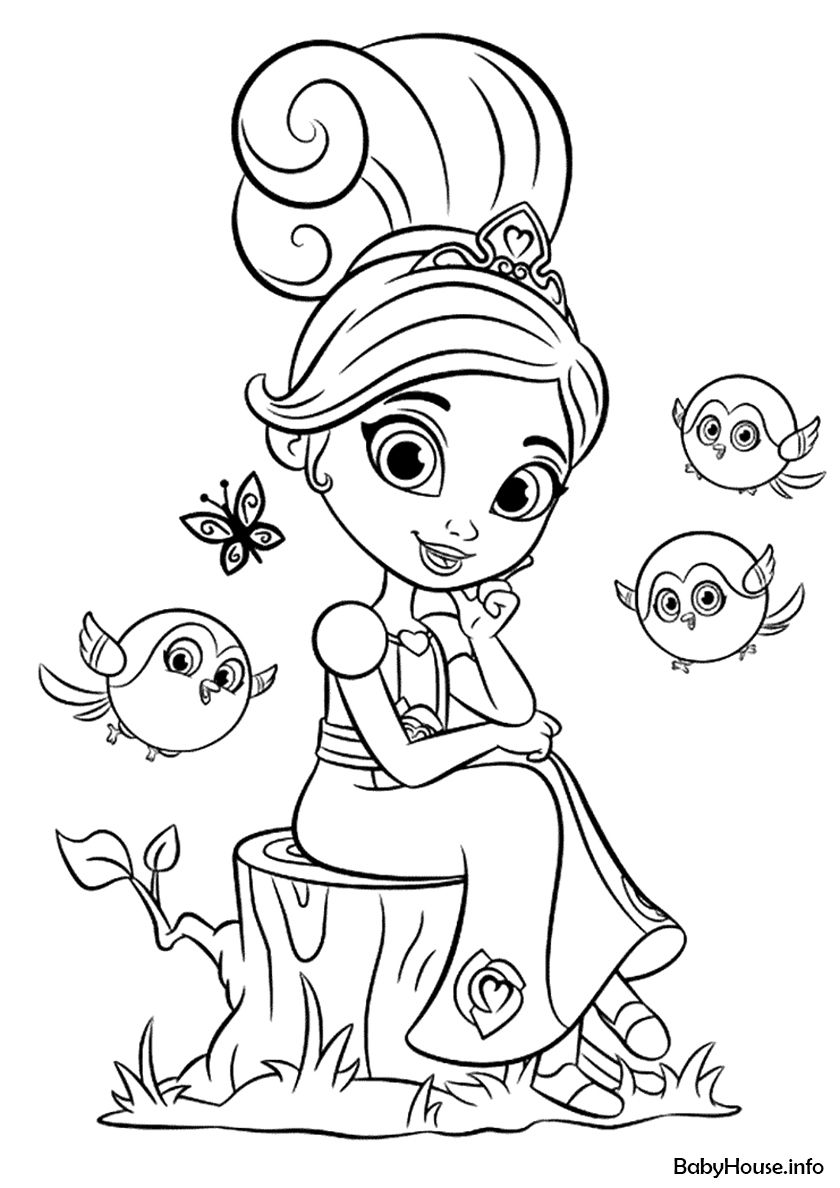 Nella For A Walk High Quality Free Coloring From The Category Nella The Princess Knight More Princess Coloring Pages Cartoon Coloring Pages Coloring Pages