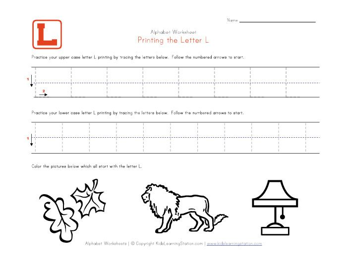 Letter L Coloring Pages Preschool : All worksheets » the letter l for preschool printable