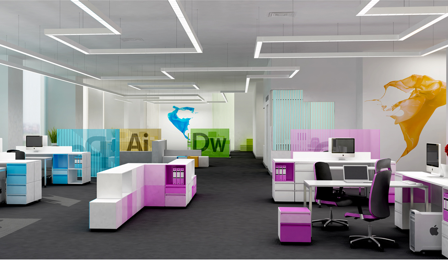 Office Design Solutions Inspiration Color Solutions For Creative Workplace  Coldscoop Httpwww . Inspiration Design