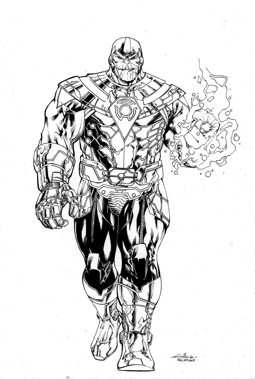 Thanos Of Sinestro Corps By Spiderguileviantart On