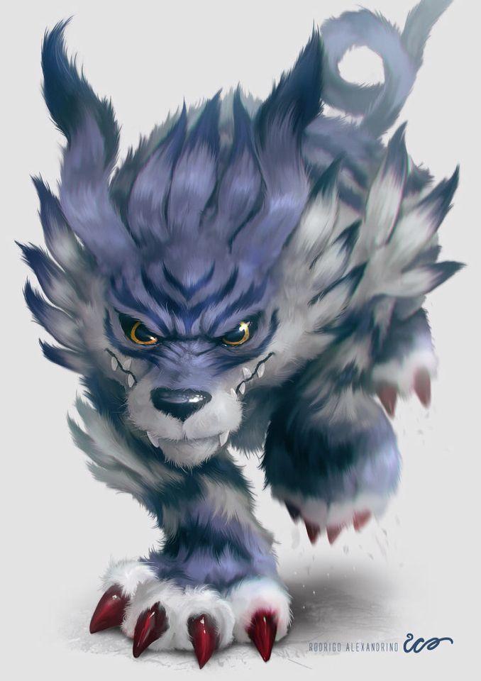 Realistic Garurumon Digimon Digital Monsters Digimon Digimon