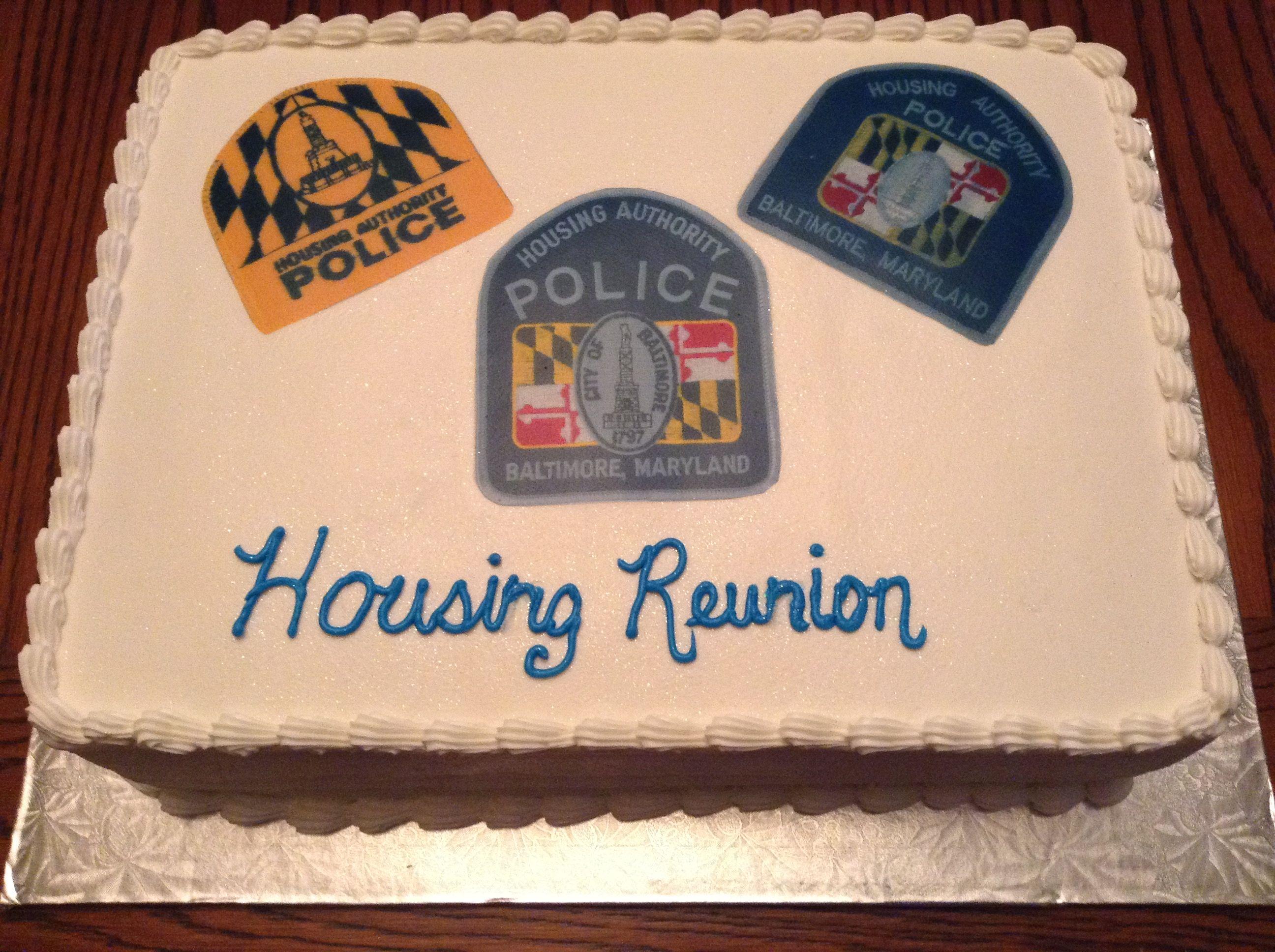 Baltimore City Housing Authority Cake Double Layer Half Chocolate Half Yellow Cake Baltimore Police Sweet