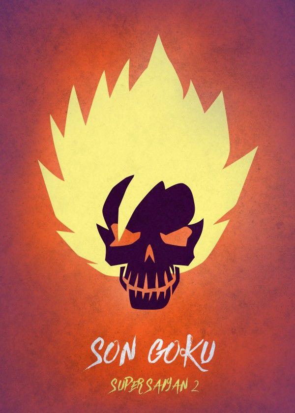 Son Goku Super Saiyan 2 Skul By Mauricio Somoza