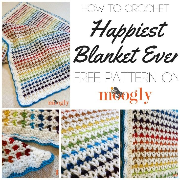Happiest Blanket Ever Tutorial | Schönste Häkeldecken | Pinterest ...
