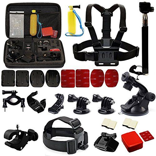 Feature: 100% New and High Quality 1 year after sell guarantee 30 pcs #Accessories Set for GoPro Hero 2 3 3+ 4 / GeekPro Camera Meet most of your needs for Suppo...