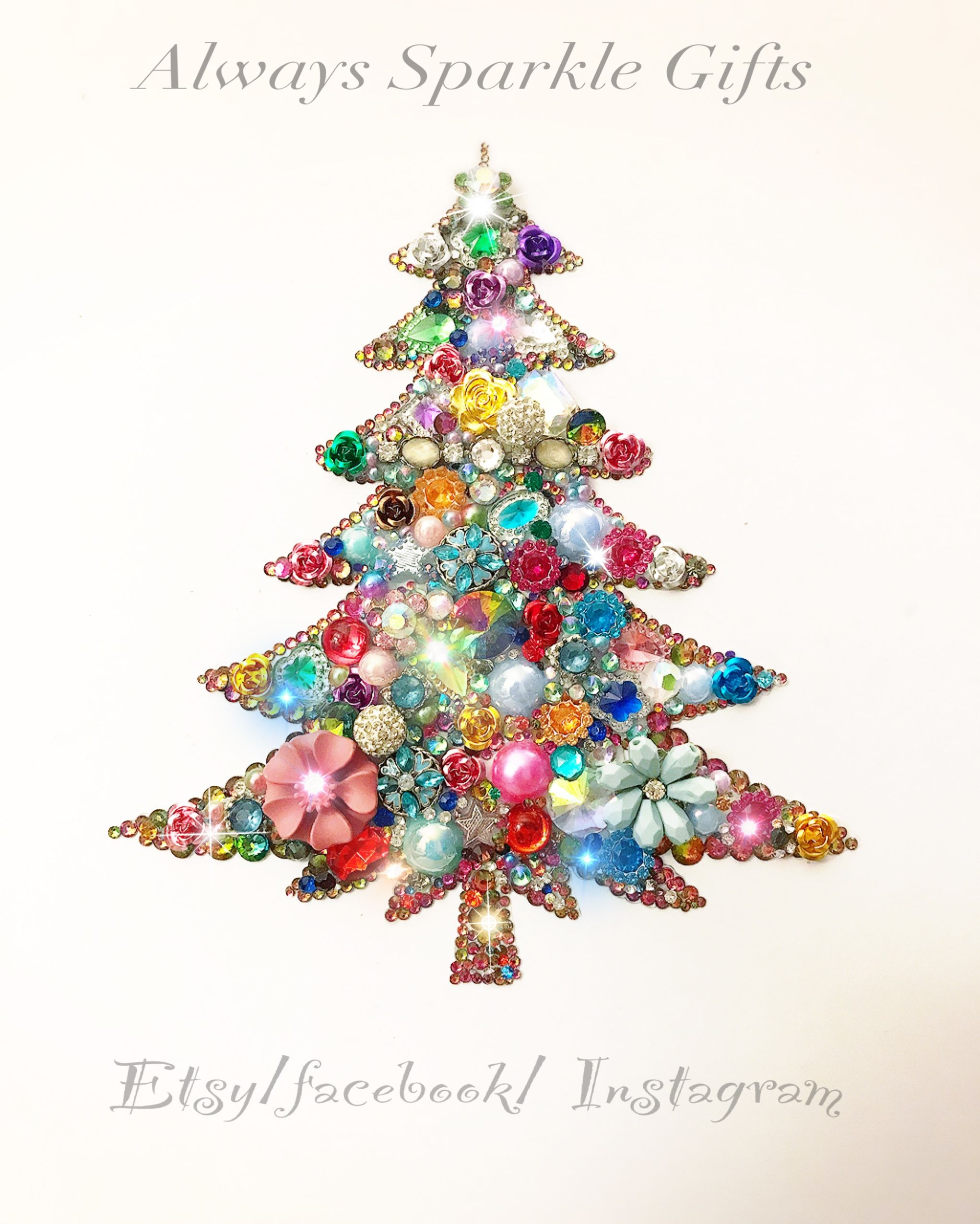 Vintage Style Christmas Tree Button Art Etsy Always Sparkle Gifts Buttons Crafts Diy Sparkle Gift Diy Christmas Gifts