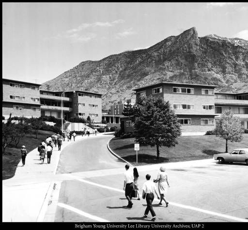 [A new group of apartment buildings in Heritage Halls, ca. 1957] :: BYU Photographs