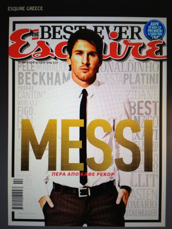 Messi, en la portada de la edición griega de Esquire