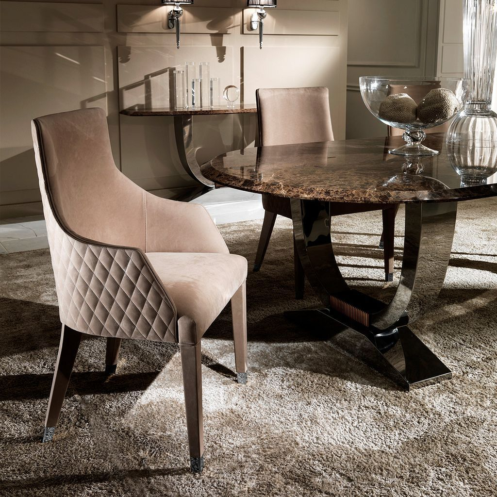 Luxury dining room furniture exclusive designer sets table and chairs marble