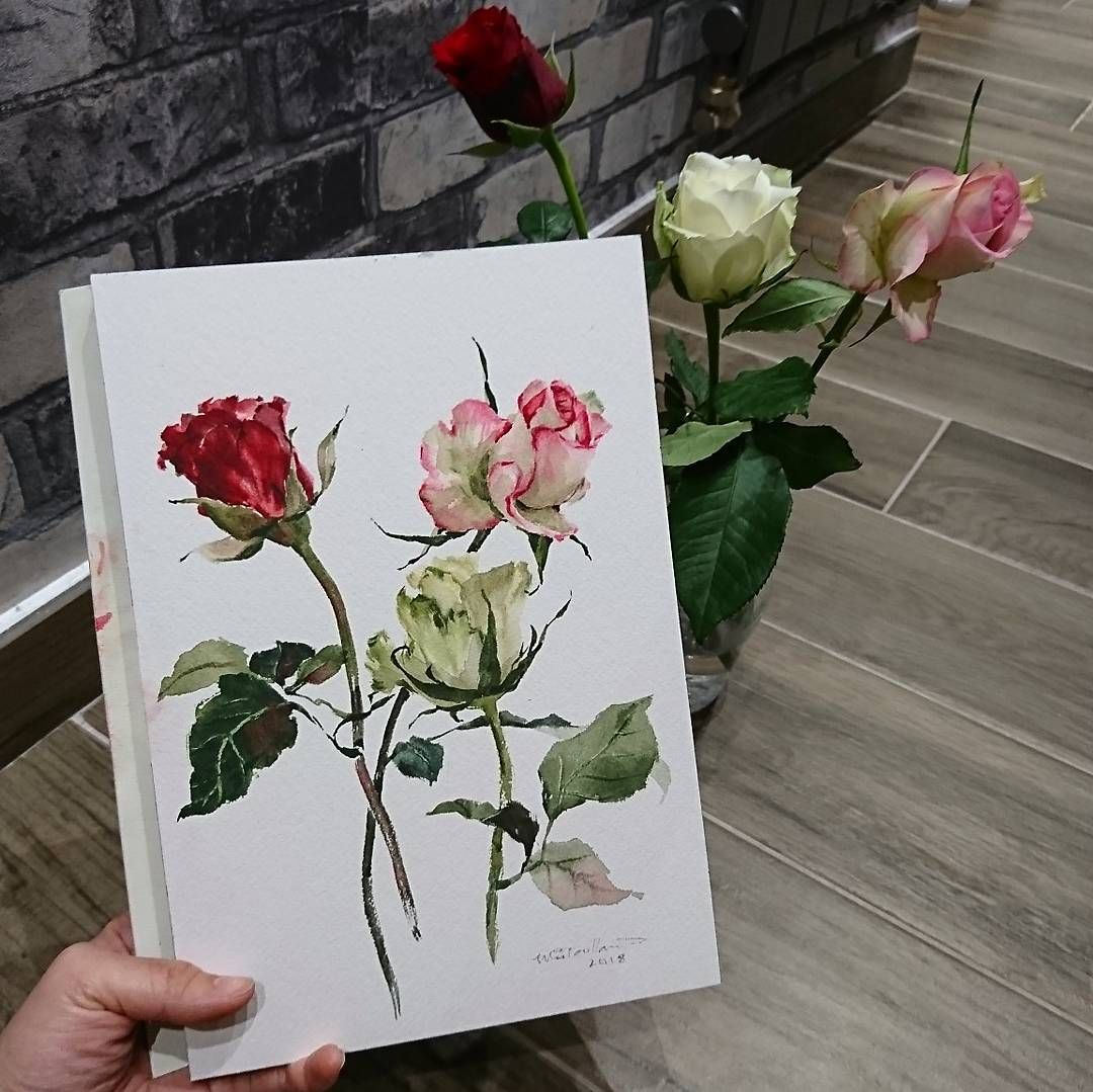 Roses Painting Valentine S Day Art Gifts For Couple Pink Rose