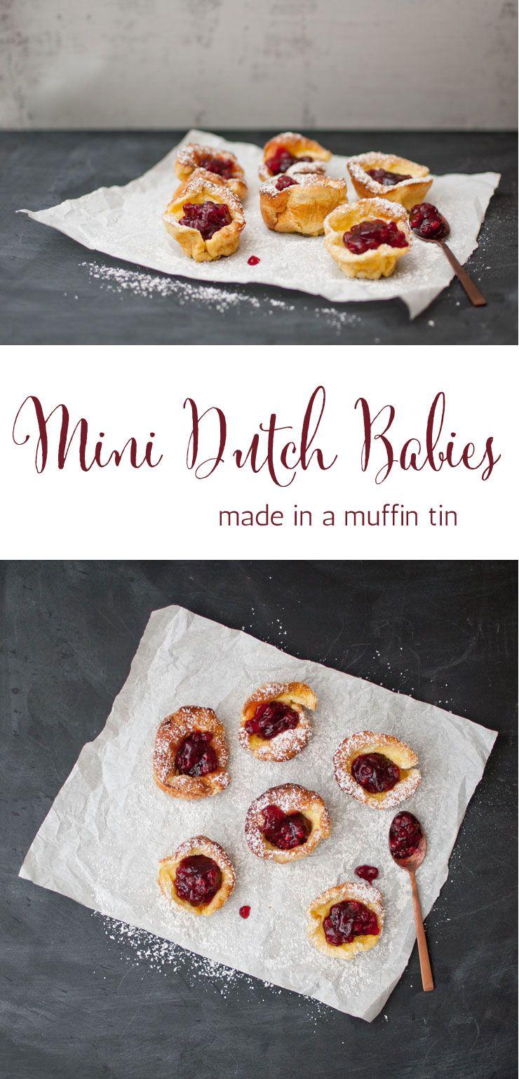 Mini Dutch Babies   Recipe   Muffin tins, Food, Brunch recipes