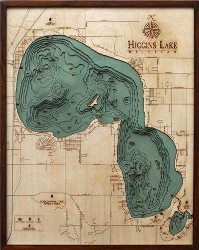map of higgins lake michigan Pin On Inland Lakes map of higgins lake michigan