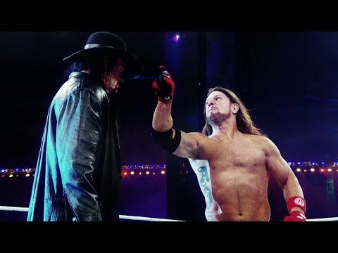 The Undertaker goes to war with AJ Styles at WrestleMania - YouTube