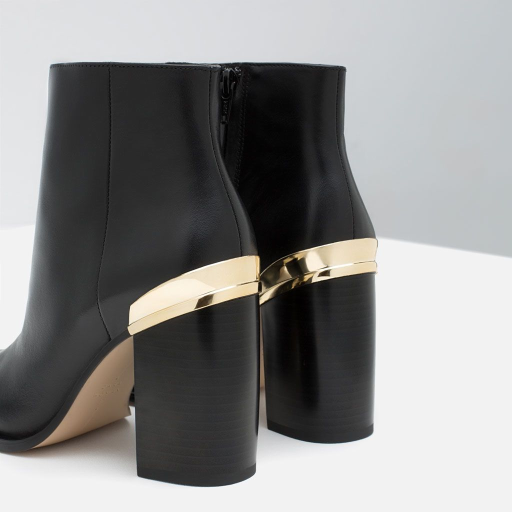 METAL TAG HIGH HEEL ANKLE BOOTS-Shoes-Woman-COLLECTION SS16 | ZARA United States