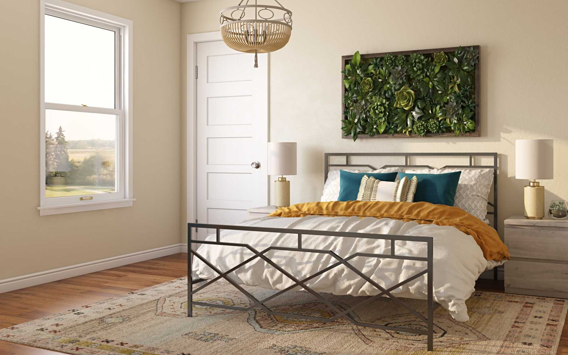 Bohemian Southwest Inspired Bedroom Design By Havenly Interior Designer Leslie In 2021 Interior Design Room Inspiration Online Interior Design