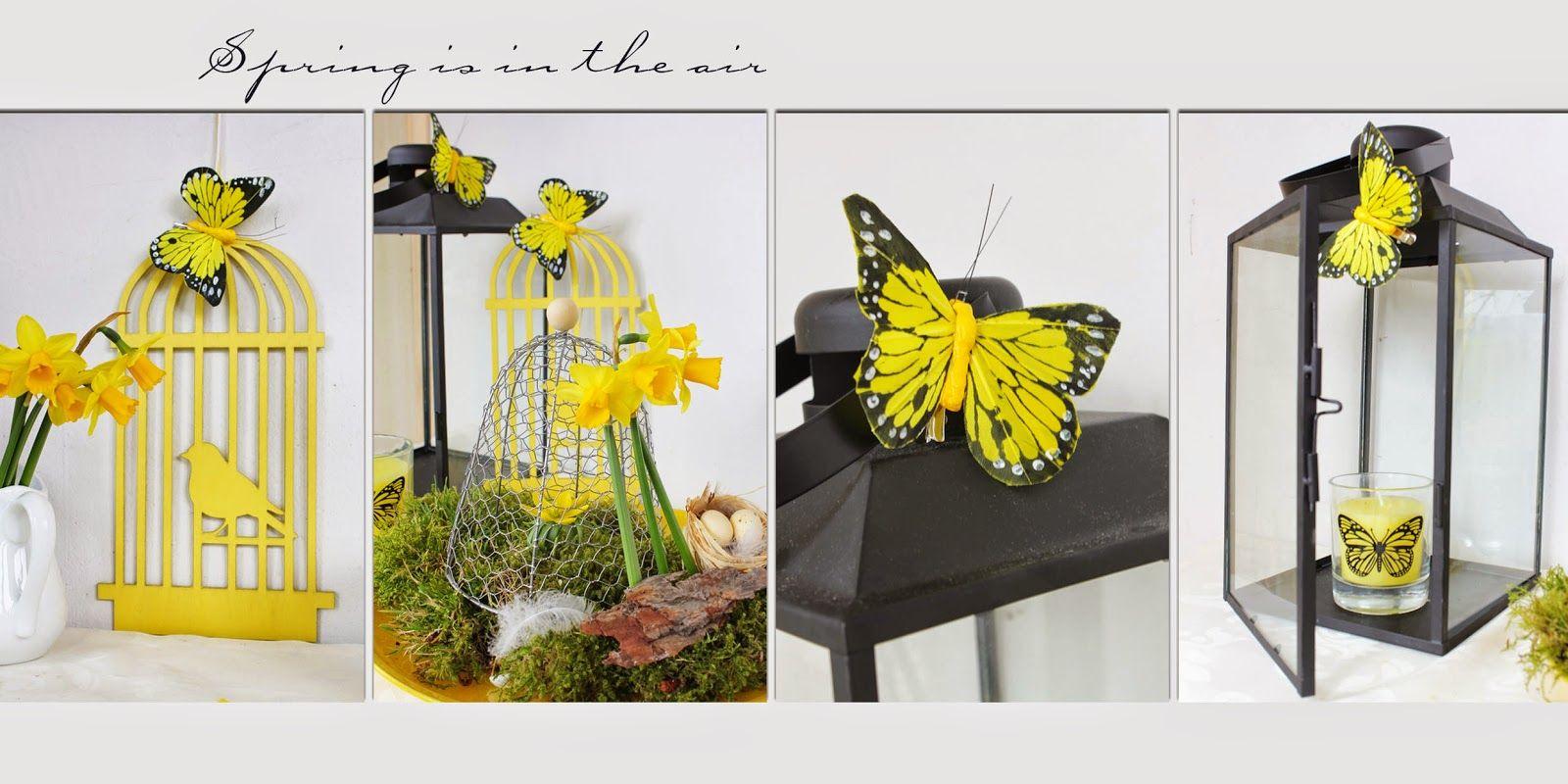 Frühlingsdeko Schwarz gelb