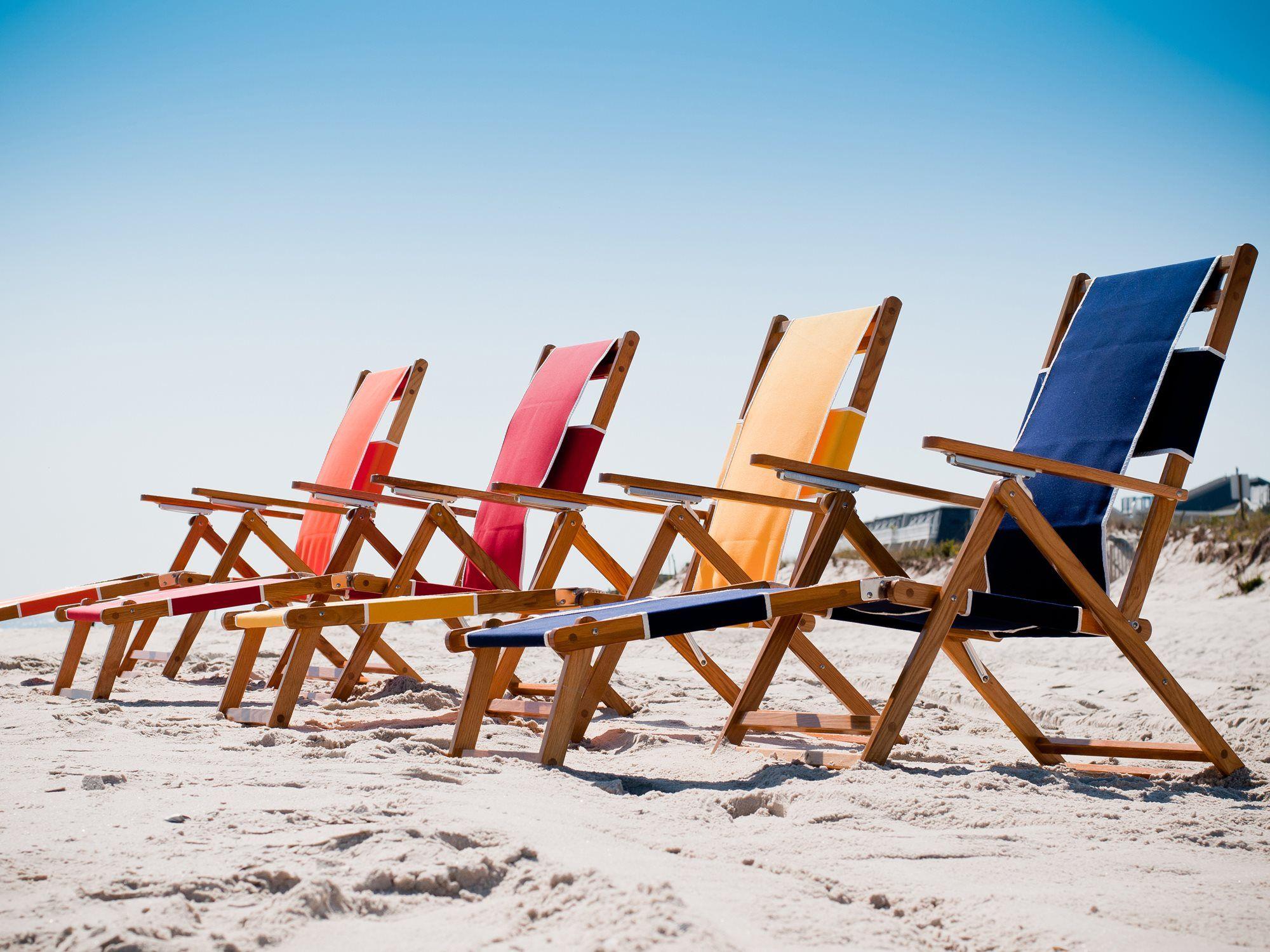 Frankford umbrellas wooden beach chairs lounge set