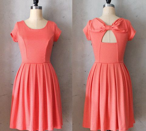 Holly Golightly Dress in Coral